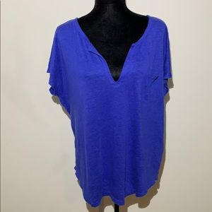 Lilly Pulitzer linen purple v neck blouse